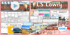 Art: LS Lowry KS1 Unit Pack