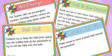 Parachute Games Activity Cards Printable