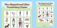 The Gingerbread Man Vocabulary Poster