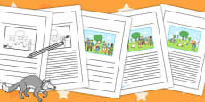 The Boy Who Cried Wolf Story Writing Frames