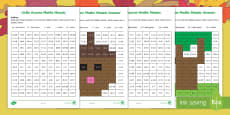 * NEW * Little Acorns Addition Maths Mosaics Activity Sheets