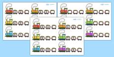 Train Subtraction Activity Sheets