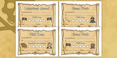 Pirate Sticker Reward Certificate (15mm)