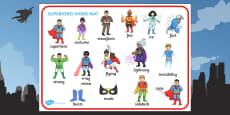 Superhero Word Mat (Images)