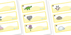 Busy Bee Themed Editable Drawer-Peg-Name Labels