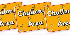 Challenge Area Display Poster