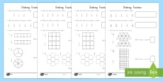 Fractions and Ordering Differentiated Activity Sheets