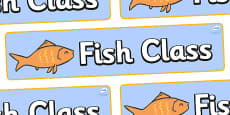 Goldfish Themed Classroom Display Banner