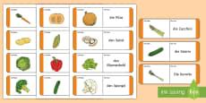 Vegetables Loop Cards German