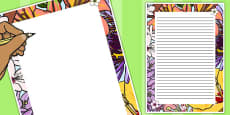 Flowers Decorative Page Border