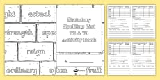 Statutory Spelling List Y3 and Y4 Activity Book