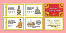 Buddhism Challenge Cards