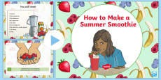 How To Make a Summer Smoothie PowerPoint