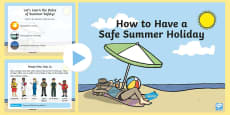 How to Have a Safe Summer Holiday PowerPoint