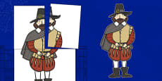 Large Guy Fawkes Display Cut Out A2