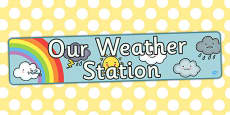 Our Weather Station Display Banner