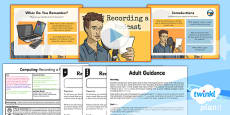 PlanIt - Computing Year 5 - Radio Station Lesson 4: Recording a Podcast Lesson Pack