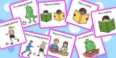 He, She, They And It Pronoun Picture Description Cards
