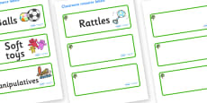 Sycamore Themed Editable Additional Resource Labels