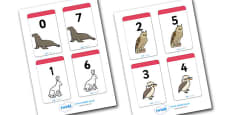 Number Bonds to 7 Matching Cards (Animals)