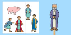 The Prodigal Son Stick Puppets