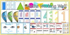 EYFS Reception Maths Working Wall Display Pack