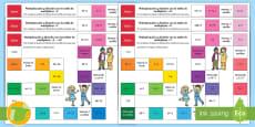 Pack de recursos: Juegos de mesa de multiplicación y división