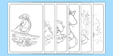 Beatrix Potter - The Tale of Benjamin Bunny Colouring Sheets