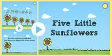 Five Little Sunflowers Counting Song PowerPoint