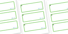 Cedar Tree Themed Editable Drawer-Peg-Name Labels (Blank)
