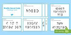Braille Secret Code Challenge Cards