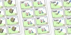 Farmyard Themed Editable Book Labels