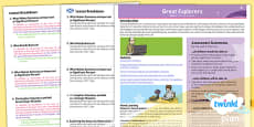 History: Great Explorers KS1 Planning Overview CfE