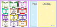 Non Fiction and Fiction Book Titles Sorting Activity