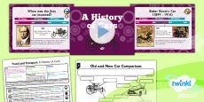 PlanIt - History KS1 - Travel and Transport Lesson 3: A History of Cars Lesson Pack