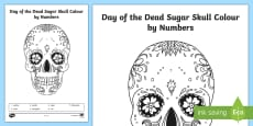 * NEW * Day of the Dead Sugar Skull Color by Number