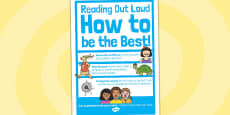 Reading Out Loud Poster A4