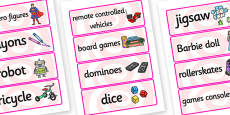Toys Word Cards