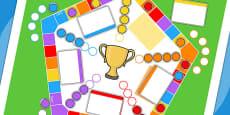 Editable 5 Player Board Game