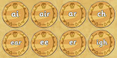 Phase 3 Phonemes on Pirate Coins