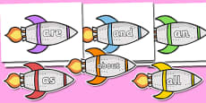 100 High Frequency Words on Rockets