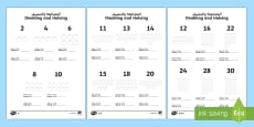 * NEW * Doubling and Halving Activity Sheets Arabic/English