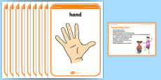 Foundation PE (Reception) Musical Body Parts Warm-Up Activity Card