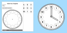 Make a Clock Face Activity