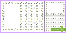 New Zealand Birds Page Border Pack