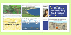 Adam and Eve Creation Story Sequencing (4 per A4)