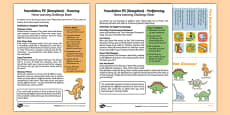 Foundation PE (Reception) - Dance - Dinosaurs Home Learning Challenge Sheets Pack
