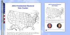 Presidential Election Electoral Vote Tracker Activity Sheet