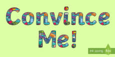 'Convince Me!' Display Lettering