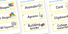 Star Themed Editable Classroom Resource Labels